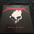 Vomitor - Bleeding the Priest red vinyl Tape / Vinyl / CD / Recording etc
