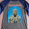 "Iron Maiden - TShirt or Longsleeve - Iron Maiden - ""Eddie Mummy"" official reprint baseball shirt"