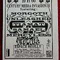 Century Media Invasion 93 gig flyer
