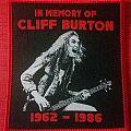 Metallica - Patch - Cliff Burton tribute patch