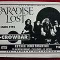 Paradise Lost - French gig flyer