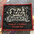 Patch Ozzy Diary of a Madman Tour