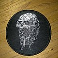 Skull woven patch