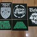 D.I.Y. Silk screen patches ( Taake / Disfear / Dr.Living Dead / Gama Bomb / Last Days of Humanity )