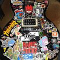 Patched up my guitar with stickers!