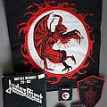 Sortilège Backpatch + Pin, Exciter Pin, Judas Priest Tape, etc