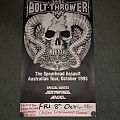 Bolt thrower Australian tour poster Other Collectable