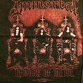 immortal back patch black metal