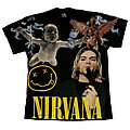 Nirvana - TShirt or Longsleeve - Nirvana all over print shirt
