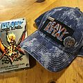 Hat,patch and pins.