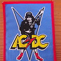 "AC/DC - Patch - AC/DC ""High Voltage"" patch - red border"