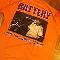 """Battery - TShirt or Longsleeve - Battery """"only the die hard""""  shirt"""