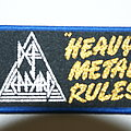 Def Leppard Heavy Metal Rules patch (  Rare )