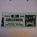 Girlschool Concert Ticket