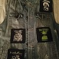 Blue denim battle vest (incomplete)