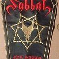 Sabbat Faux Leather Coffin Shaped Back Patch