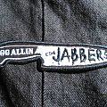 GG Allin and the Jabbers knife shaped embroidered patch