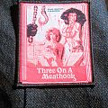 Three on a Meathook Woven Patch