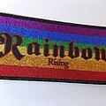 Rainbow - Patch - RAINBOW woven glitter patch