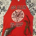 GG Allin - TShirt or Longsleeve - GG Allin shirt and dreads shaved off a dead friends body