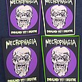 Necrophagia OFFICIAL Woven Glow In The Dark Back Patch