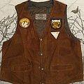 70's- suede waistcoat Battle Jacket