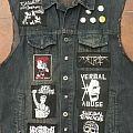 Battle Jacket - Vest - Signed by destruction + mortal sin.