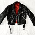 None - Battle Jacket - Jofama style leather jacket