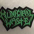 Municipal Waste - Patch - MUNICIPAL WASTE Logo Shape green