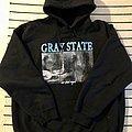 Gray State hood Hooded Top