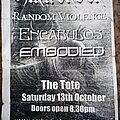 Embodied - Other Collectable - Embodied - gig flyer