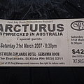 Arcturus - Other Collectable - Arcturus - concert ticket 2007