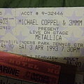 Metallica - 1993 ticket , Melbourne , Australia Other Collectable