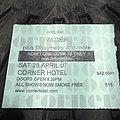 Vader - Other Collectable - Vader - concert ticket 2007