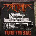 Desecrator - tougher than skulls - Patch