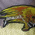 Metallica - flaming skull - patch