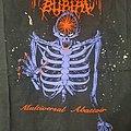 """Faceless Burial - """"Multiversal Abattoir"""" Red/Purp Shirt"""