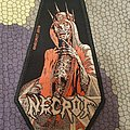 necrot - patch - Blood Offerings coffin shaped
