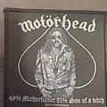 Motörhead - Patch - Motörhead - 49% motherfucker 51% son of a bitch patch