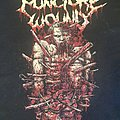 """Puncture Wound - TShirt or Longsleeve - Puncture Wound - logo with the """"Punctured One"""""""