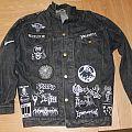 My first battle jacket - WIP - Black death thrash punk battle vest (All black & white)