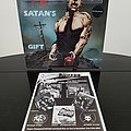 Deathrow ' Satan's Gift ' & ' Riders Of Doom ' Original Vinyl LPs + 1990 NOISE International T-Shirt + Promotional Ads