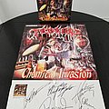 Tankard AUTOGRAPHED Promotional Poster for ' Chemical Invasion ' LP Other Collectable