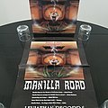 Manilla Road - Other Collectable - Manilla Road ' Out of the Abyss ' Original Vinyl LP + Promotional Poster