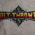 Bolt Thrower back shaped logo patch