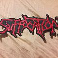 Suffocation back Shaped logo patch