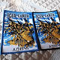 Iced earth alive in Athens woven patch