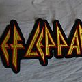 Def Leppard back shaped logo patch