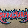 Sepultura back Shaped logo patch