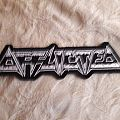 Afflicted back Shaped logo patch